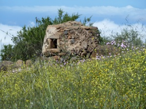The old bread oven near the old farmhouse Pajar de la Corona.